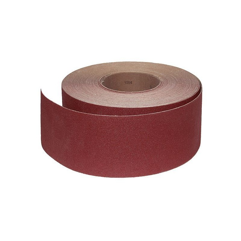 Abrasive Roll Cloth, backed 76 mm x 25 m antistatic