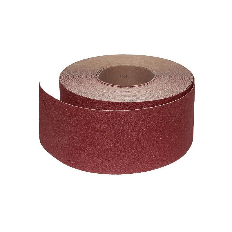 Abrasive Roll Cloth, backed 85 mm x 25 m antistatic