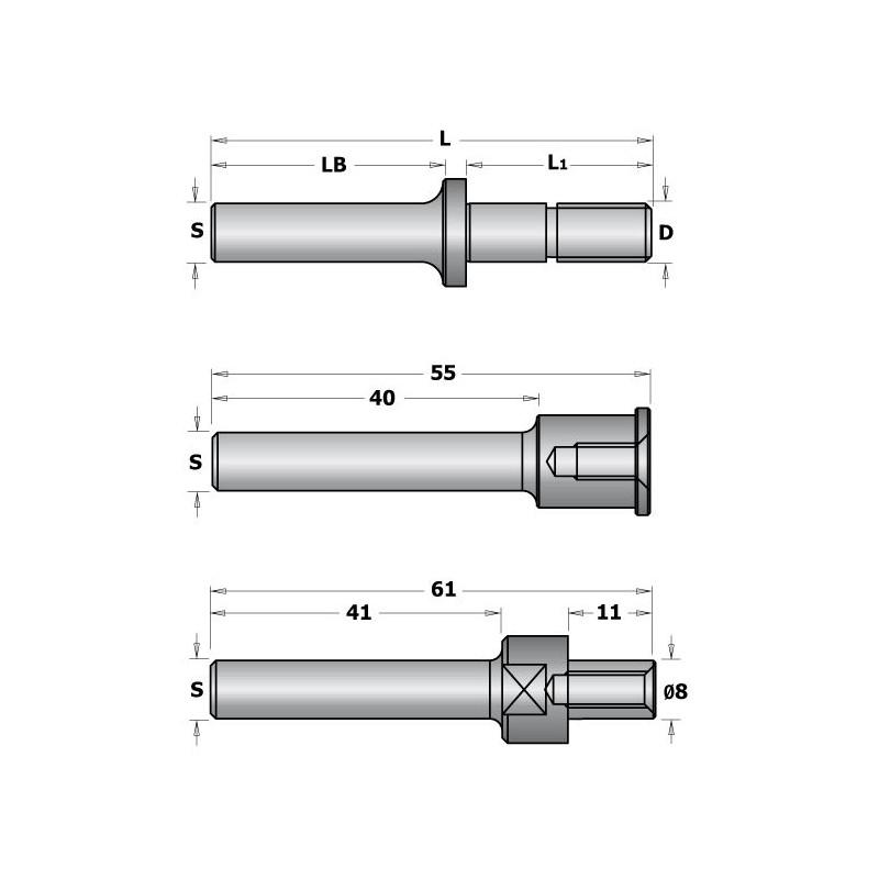 CMT C924 Slot Cutter Arbor with Spacers - S12, DM8, L147