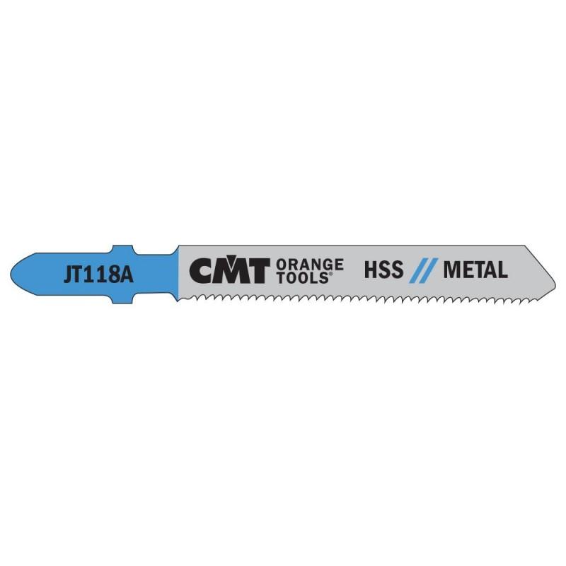 CMT Jig Saw Blade HSS Metal 118 A - L76 I50 TS1,2  (set 5pcs)