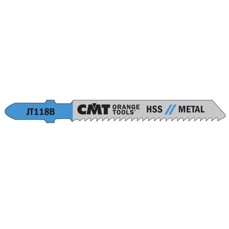 CMT Jig Saw Blade HSS Metal 118 B - L76 I50 TS2 (set 5pcs)