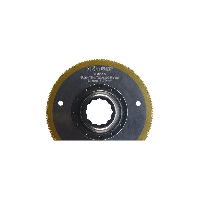 CMT Plunge and Flush Saw Blade BIMTi with Extra-long Life, for wood, metal - 87 mm, for Fein