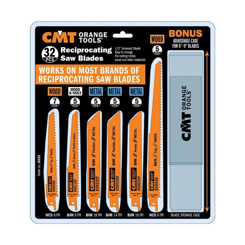 CMT Recip Saw Blades Set, 32 pcs