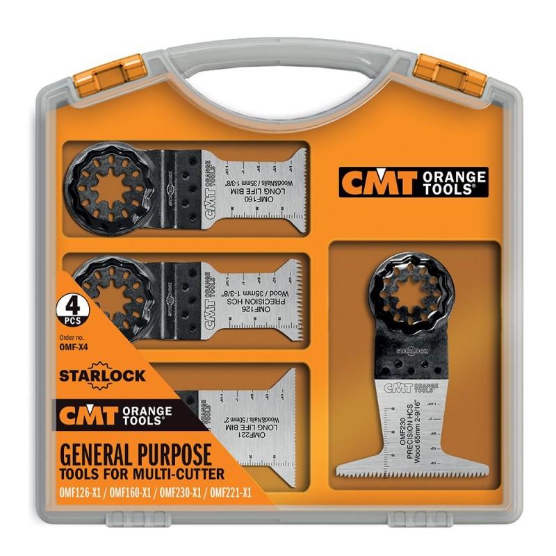 CMT Starlock Multipurpose Set for Oscillating Multi-Tools, 4pcs