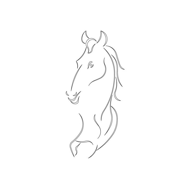 CMT Router Carver System Template Horse 445X203