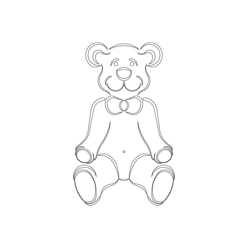 CMT Router Carver System Template, Teddy Bear, 394x203 mm