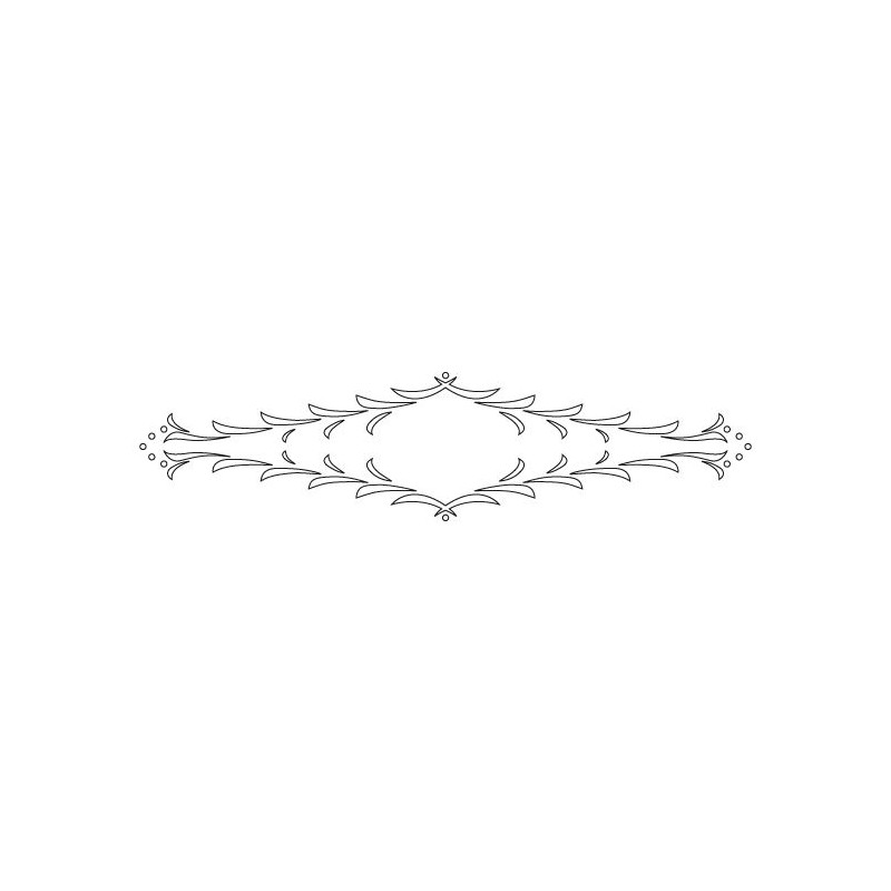CMT Router Carver System Template for Florentine Rail, 550x130 mm