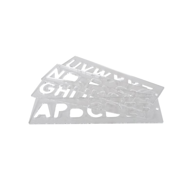 Template Set, Letters 57 mm uppercase, A-Z