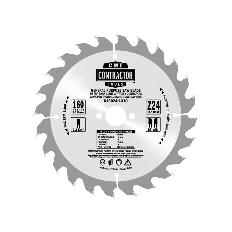 CMT Contractor Saw Blade for Wood
