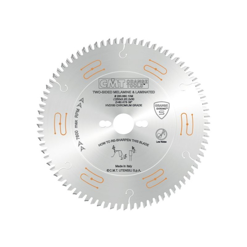 CMT CHROME C283 Saw Blade for Laminated Boards without Scorer