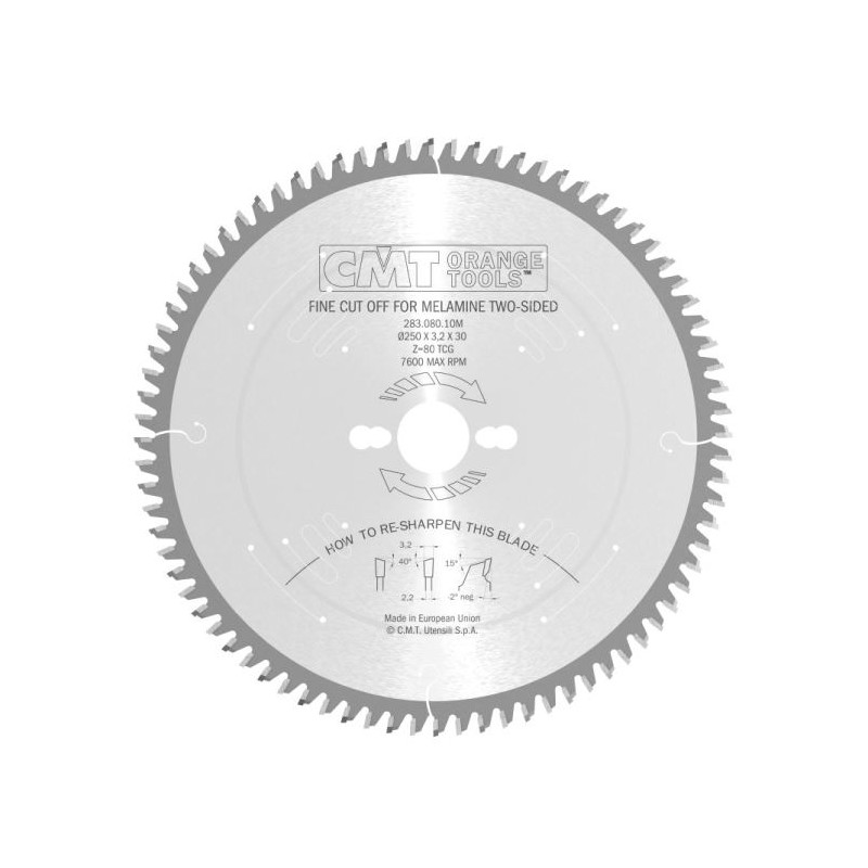 CMT Industrial C283 Saw Blade for Laminated Boards without Scorer