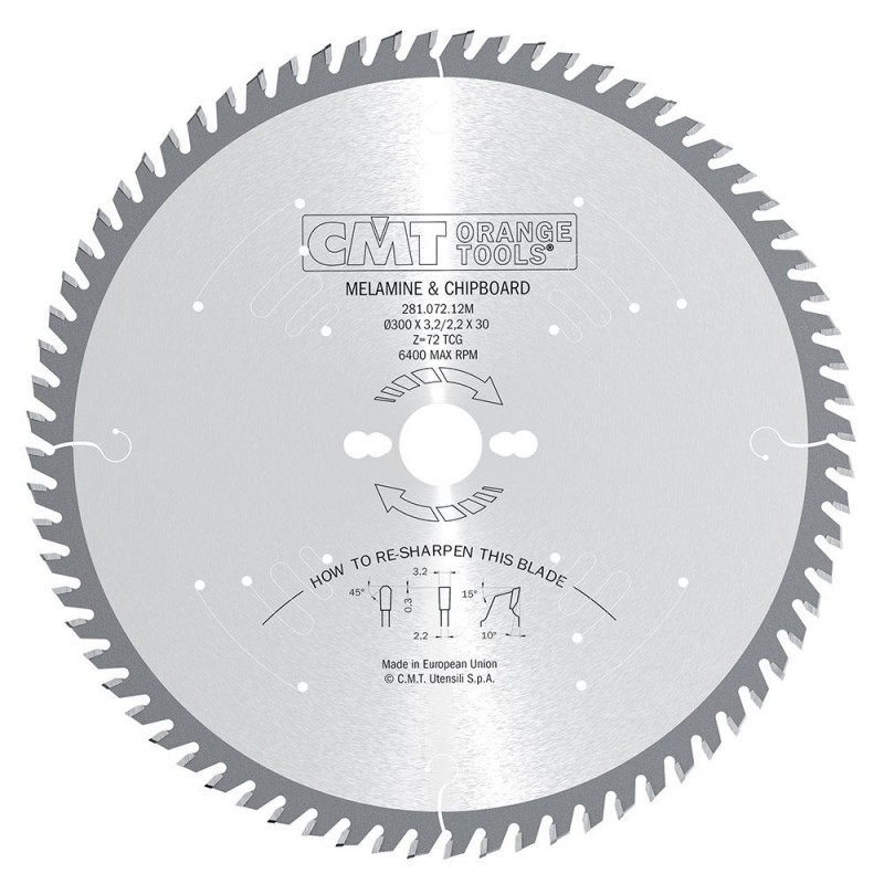 CMT Industrial Saw Blade for Laminated and Chipboard