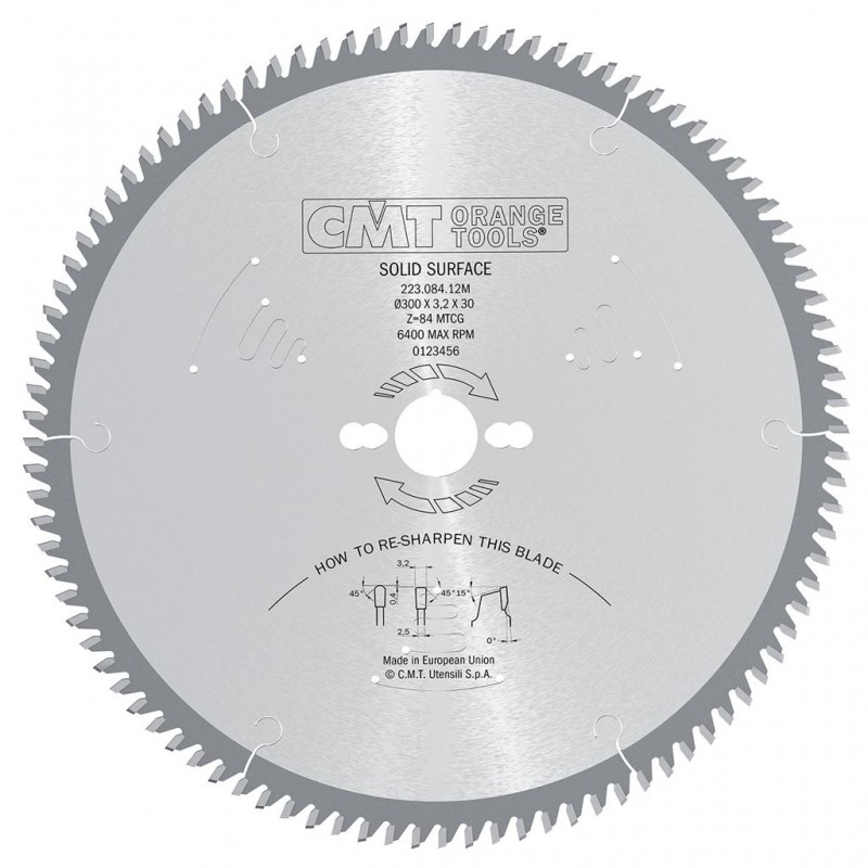 CMT Solid Surface and Corian Saw Blade