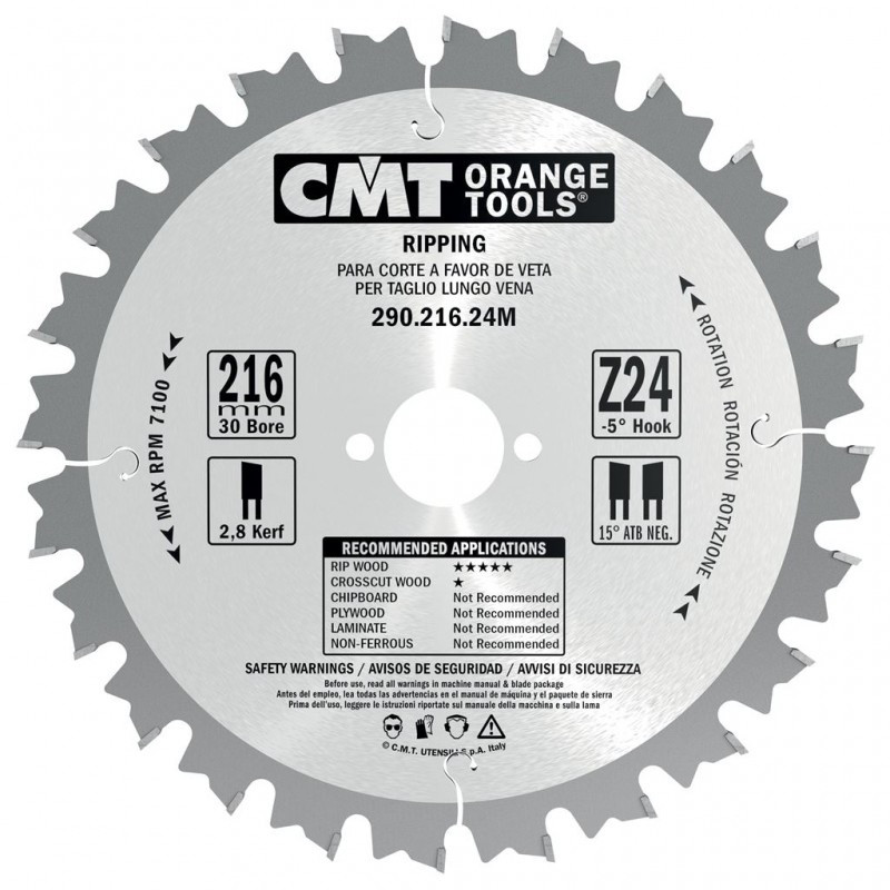 CMT Rip Saw Blade for Portable Machines