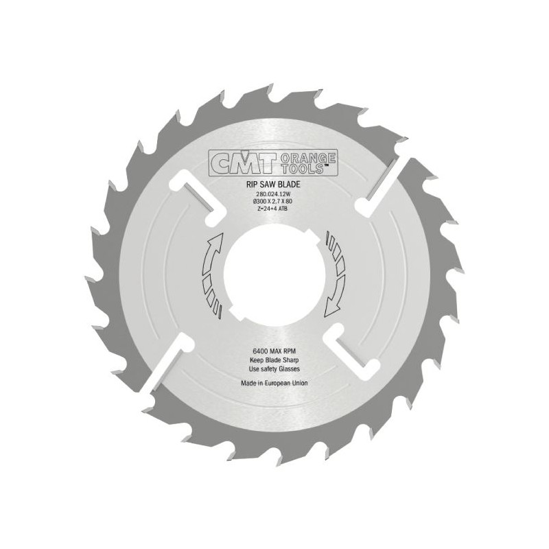 CMT Multi-rip Saw Blade Thin-Kerf with Rakers