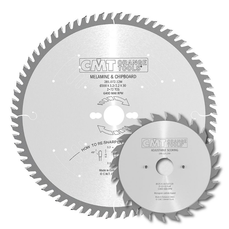 CMT Saw Blade Set for Laminated Panels