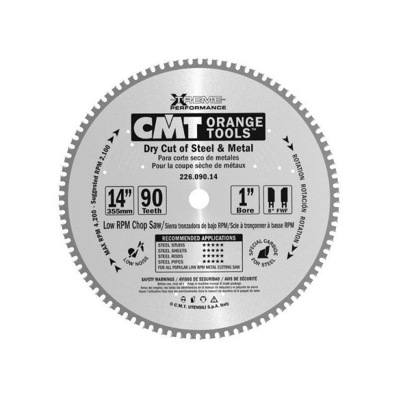 CMT XTreme Saw Blade for Stainless Steel